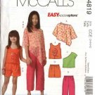 McCall's Sewing Pattern 4819 Girls Size 3-6 Easy Wardrobe Poncho Pullover Top Shorts Pants