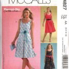 McCall's Sewing Pattern 4827 Misses Size 6-12 Summer Sundress Sleeveless Dress