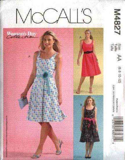 McCall's Sewing Pattern 4827 Misses Size 14-20 Summer Sundress Sleeveless Dress