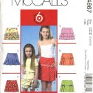 McCall's Sewing Pattern 4867 Girls Size 7-10 Easy Tiered Yoke Pleated Ruffled Skirts