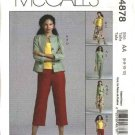 McCall's Sewing Pattern 4878 Misses Size 6-12 Wardrobe Jacket Skirt Cropped Long Pants Suntop