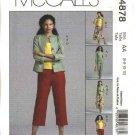 McCall's Sewing Pattern 4878 Misses Size 8-14 Wardrobe Jacket Skirt Cropped Long Pants Suntop