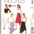 McCall's Sewing Pattern 4882 Misses Size 16-22 2-Hour Flared Flounced Fitted Skirts Sashes Belts