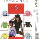 McCall's Sewing Pattern 4909 Girls Size 7-12 Easy Pullover Knit Tops Sleeve Bodice Variations