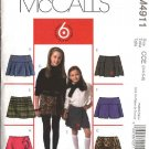 McCall's Sewing Pattern 4911 Girls Size 3-6 Easy Pleated A-line Ruffled Skirts Skorts