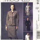 McCall's Sewing Pattern 4918 Misses Size 10-16 Button Front Jacket Dress Straight Skirt Suit