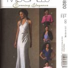 McCall's Sewing Pattern 4920 Misses Size 12-18 Evening Gown Prom Formal Dress Shrug Wrap Cape