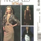 McCall's Sewing Pattern 4919 Misses Size 10-16 Lined Unlined Shrug Boleros Jackets Straight Dress