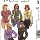 McCall's Sewing Pattern 4921 Misses Size 14-20 Button Front Bow Tie Blouse Sleeve Variations