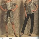 Vogue Sewing Pattern 1013 Misses Size 6-12 DKNY Wardrobe Dress Top Belt Camisole Slip Pants
