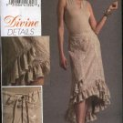 Vogue Sewing Pattern 8364 Misses Size 18-22 Divine Details Ruffled Hemline Asymmetrical Skirt