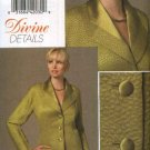 Vogue Sewing Pattern 8458 Misses Size 6-10 Divine Details Button Front Long Sleeve Lined Jacket