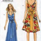 Vogue Sewing Pattern 8492 Misses Size 14-20 Easy Lined Sundress Sleeveless Long Short Dress Sash