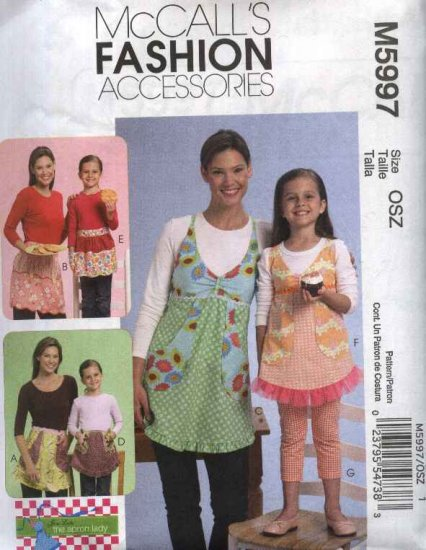 McCall�s Sewing Pattern 5997 Misses Children's Full Half Fancy Aprons Pants