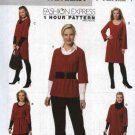 Butterick Sewing Pattern B5397 5397 Misses Size 4-14 Easy 1 Hour Baby Doll Top Tunic Dress Belt