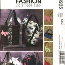 McCall's Sewing Pattern 4935 Lined Tote Bag Purses Pocketbook Handbags Charms