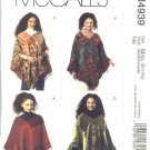 McCall's Sewing Pattern 4939 Misses Size 8-22 Fringed Patchwork Ruffled Ponchos