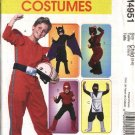 McCall's Sewing Pattern 4951 Boys Size 3-6  Halloween Costumes Super Hero Ninja Batman