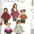 McCall's Sewing Pattern 4962 Girls Size 7-12 Fleece Hooded Tie Front Shape Variations Ponchos