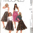 McCall's Sewing Pattern 4971 Misses Size 14-20 A-Line Flared Lined Skirts Sash