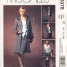 McCall's Sewing Pattern 4978 Misses Size 10-16 Wardrobe Lined Jacket Top Skirt Pants Coat Duster