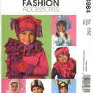 McCall's Sewing Pattern 4984 Boys' Girls' Fleece Fashion Accessories Hats Scarves Mittens