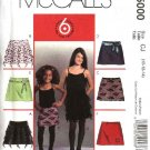 McCall's Sewing Pattern 5000 Girls Size 7-12 Easy Fitted A-Line Lined Yoke Skirts