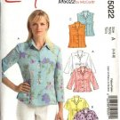 McCall's Sewing Pattern 5022 Misses Size 10-16 Easy Sleeveless Short Long Sleeve Shirts