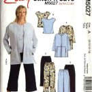 McCall's Sewing Pattern 5027 Misses Size 8-14 Easy Unlined Jacket Sleeveless Top Long Cropped Pants