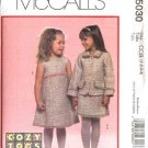 McCall's Sewing Pattern 5030 Toddler Girls Size 1-2-3-4 Cozy Togs Lined Jacket Jumper Skirt