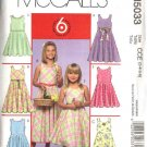 McCall's Sewing Pattern 5033 Girls Size 3-6 Easy Sleeveless Sundress Summer Dress