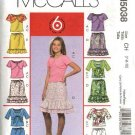 McCall's Sewing Pattern 5038 Girls Size 12-16 Easy Shrug Bolero Tank Top Ruffled Skirt