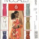 McCall's Sewing Pattern 5041 Misses Size 14-20 Easy Sleeveless Princess Seam Straight Dress