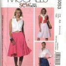 McCall's Sewing Pattern 5053 Misses Size 6-12 SewNews Flared Gathered Yoke Skirts
