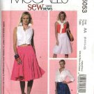 McCall's Sewing Pattern 5053 Misses Size 14-20 SewNews Flared Gathered Yoke Skirts