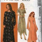 McCall's Sewing Pattern 4654 M4654 Misses Size 10-16 Princess Seamed Dress Sleeve Variations
