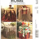 McCall's Sewing Pattern 5070 Sew News Table Toppers Tablecloths Napkins Placemats Runner