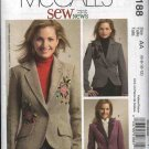 McCall's Sewing Pattern 5188 Misses Size 6-12 Sew News Lined Button Front Embroidered Jacket