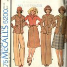 Retro McCall's Sewing Pattern 5200 Misses Size 8 Wardrobe Unlined Jacket Top  Ascot Skirt Pants