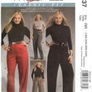 McCall's Sewing Pattern 5537 Womans Plus Size 18W-24W Classic Fitted Long Cropped Pants