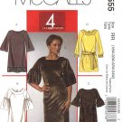 McCall's Sewing Pattern 5555 M5555 Womans Plus Size 18W-24W Easy Pullover Straight Dresses