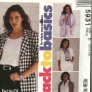 McCall's Sewing Pattern 5931 Misses Size 12-16 Easy Basic Short Long Sleeved Unlined Jacket