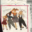 McCall's Sewing Pattern 6129 Girls Size 6-7-8 Easy Jumping Beans Jumper Romper Jumpsuit T-shirt