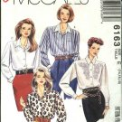 McCall's Sewing Pattern 6163 Misses Size 14-18 Easy Long Sleeve Button Front Blouse Shirt