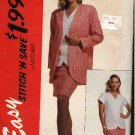 McCall's Sewing Pattern 6359 Misses Size 10-16 Easy Unlined Jacket Button Front Top Straight Skirt