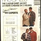 "McCall's Sewing Pattern 7308 Misses Mens Chest Size 31 1/2 - 40""  Button Front Shirt Jacket"