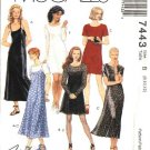 McCall's Sewing Pattern 7443 Misses Size 10-14 Easy Classic Long Short Dress Slip Dress