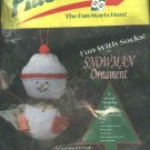 Plastifoam Sock Snowman Christmas Tree Ornament Craft Kit