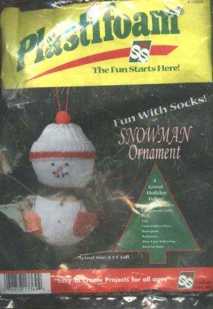 Plastifoam Sock Snowman Christmas Tree Ornament Craft Kit