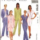 McCall's Sewing Pattern 8750 Misses Size 8-12 Lined Jacket Top Pants Straight Skirt Suit Pantsuit
